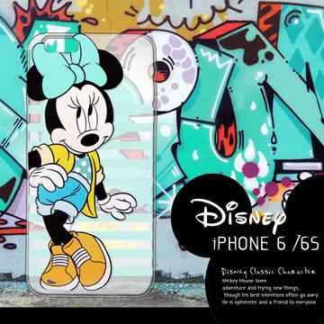 迪士尼授權正版 iPhone6/ 6S Plus i6S+ (5.5吋) 街頭系列透明軟式手機殼(俏米妮)