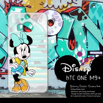 迪士尼授權正版 HTC One M9+ M9 Plus 街頭系列透明軟式手機殼(俏米妮)