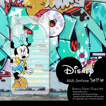 迪士尼授權正版 ASUS ZenFone Selfie ZD551KL 街頭系列透明軟式手機殼(俏米妮)