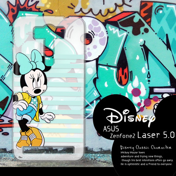 迪士尼授權正版 ASUS ZenFone 2 Laser ZE500KL 5吋  街頭系列透明軟式手機殼(俏米妮)