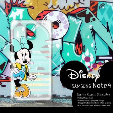 迪士尼授權正版 Samsung Galaxy Note 4 N910U 街頭系列透明軟式手機殼(俏米妮)