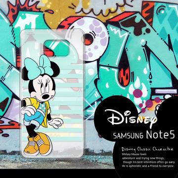 迪士尼授權正版 Samsung Galaxy Note 5 N9208 街頭系列透明軟式手機殼(俏米妮)