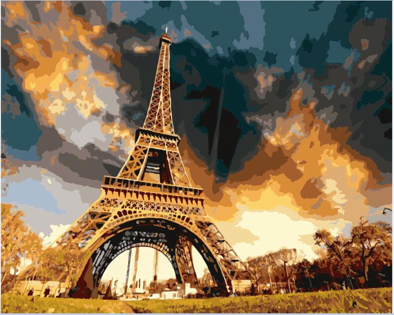 ArtLife藝術生活【87914】巴黎鐵塔_DIY 數字 油畫 彩繪 40*50cm