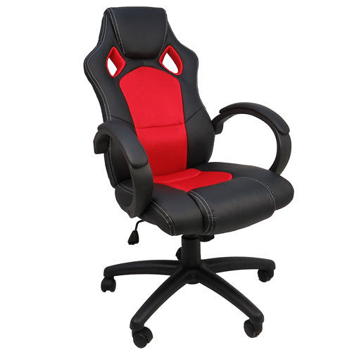 LOGIS邏爵~疾速赤黑賽車椅/辦公椅/電腦椅