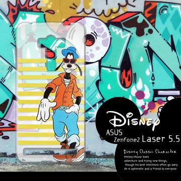 迪士尼授權正版 ASUS ZenFone 2 Laser ZE550KL 5.5吋 街頭系列透明軟式手機殼(帥氣高飛)