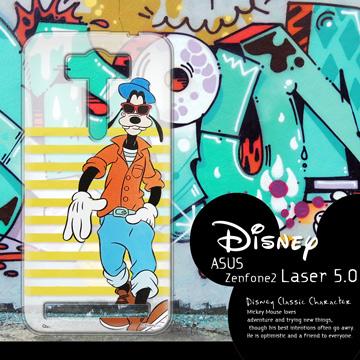 迪士尼授權正版 ASUS ZenFone 2 Laser ZE500KL 5吋  街頭系列透明軟式手機殼(帥氣高飛)