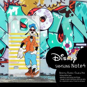迪士尼授權正版 Samsung Galaxy Note 4 N910U 街頭系列透明軟式手機殼(帥氣高飛)