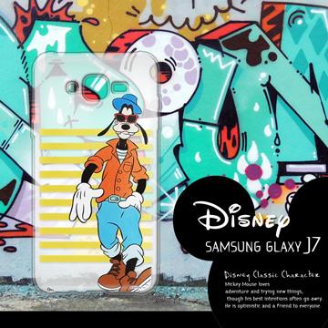 迪士尼授權正版 Samsung Galaxy J7 J700 街頭系列透明軟式手機殼(帥氣高飛)