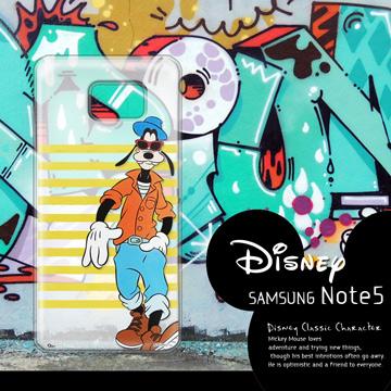 迪士尼授權正版 Samsung Galaxy Note 5 N9208 街頭系列透明軟式手機殼(帥氣高飛)