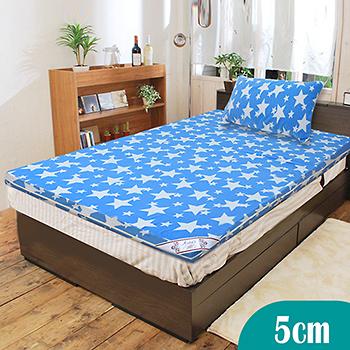 【KOTAS】珊瑚絨竹炭5cm記憶床墊-單人(送珊瑚絨枕墊)