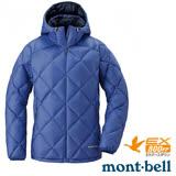 【日本 MONT-BELL 】女款 LIGHT ALPINE PK 羽絨連帽外套/輕量防風夾克.超潑水禦寒大衣 群青藍 1101431