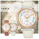 SEIKO LUKIA 限量機械彩色數字時尚女錶-35mm/4R35-00J0W(SRP864J1)