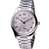 LONGINES 巨擘動力儲存鋼帶腕錶-銀/42mm L26664786