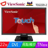 ViewSonic 優派 TD2220-2 22 吋 Full HD 1080p 光學觸控顯示器