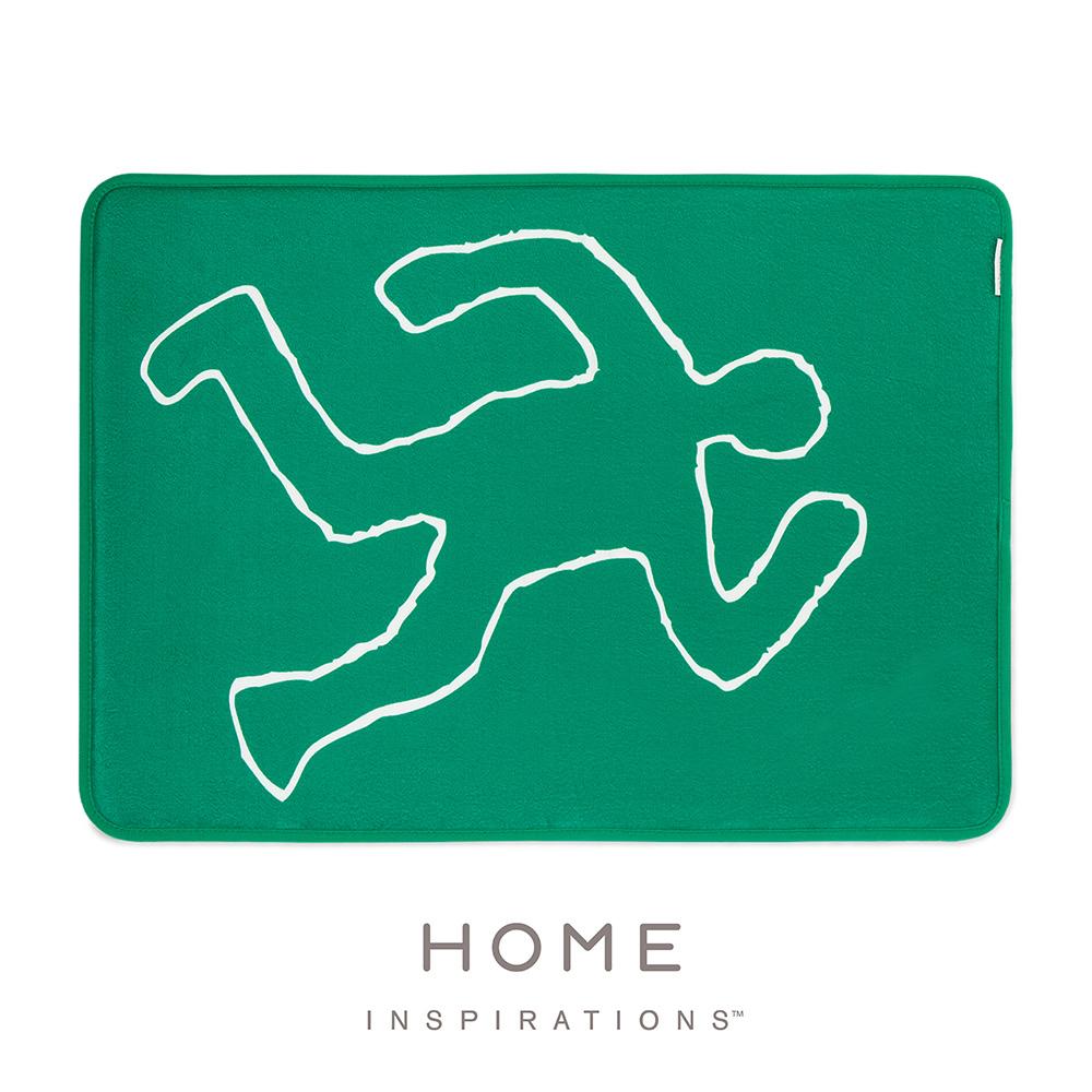 【Home】趣味記憶綿浴墊 - 恣情舞動(Dancing Man)