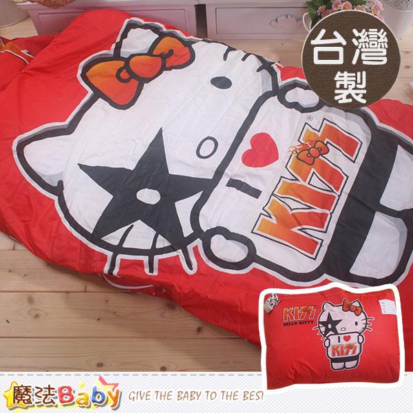 魔法Baby 台灣製Hello kitty授權正版兒童睡袋 c0109