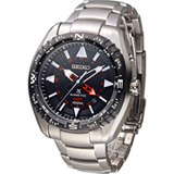SEIKO PROSPEX GMT兩地時間人動電能腕錶 5M85-0AE0D SUN049J1