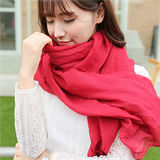 【PS Mall】秋冬款純色棉質圍巾絲巾 (G1822)