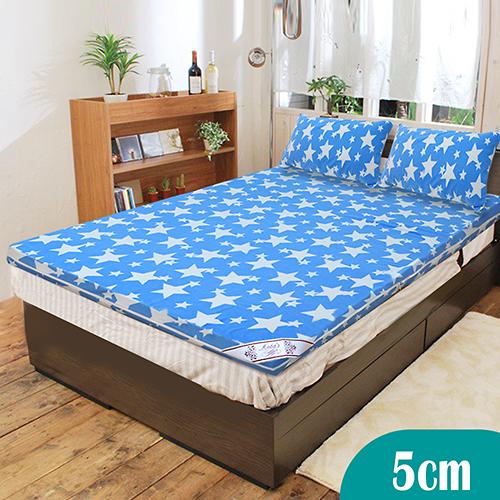 【KOTAS】珊瑚絨竹炭5cm記憶床墊-雙人(送珊瑚絨枕墊)