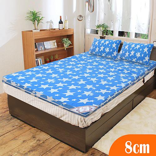 【KOTAS】珊瑚絨竹炭8cm記憶床墊-雙人(送珊瑚絨枕墊)