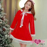 【天使霓裳】聖誕服 俏皮連帽派對角色扮演服(紅F)