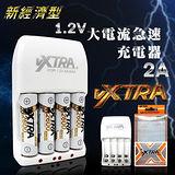 VXTRA飛創 新經濟型2A大電流急速智能充電器(3號4號都可充)