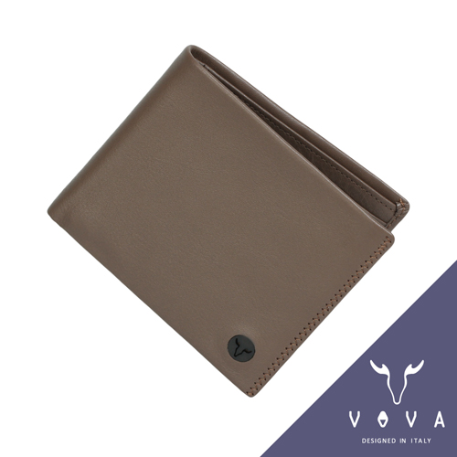 VOVA 旋律系列10卡素面軟皮短夾(可可色)VA103W003CO