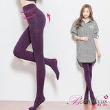 【BeautyFocus】台灣製180D全彈性平腹顯瘦保暖褲襪-5300深紫色