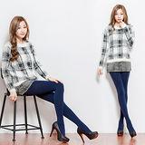 【BeautyFocus】台灣製180D全彈性平腹顯瘦保暖褲襪-5300深藍色