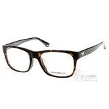 EMPORIO ARMANI眼鏡 經典方框款(琥珀) #EA3056F 5026