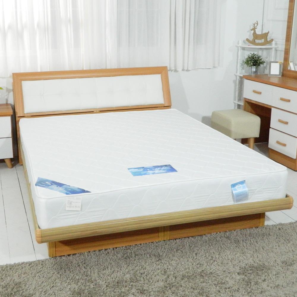HAPPYHOME 日式3.5尺單人加大緹花布蓆面獨立筒彈簧床墊GA14-3.5