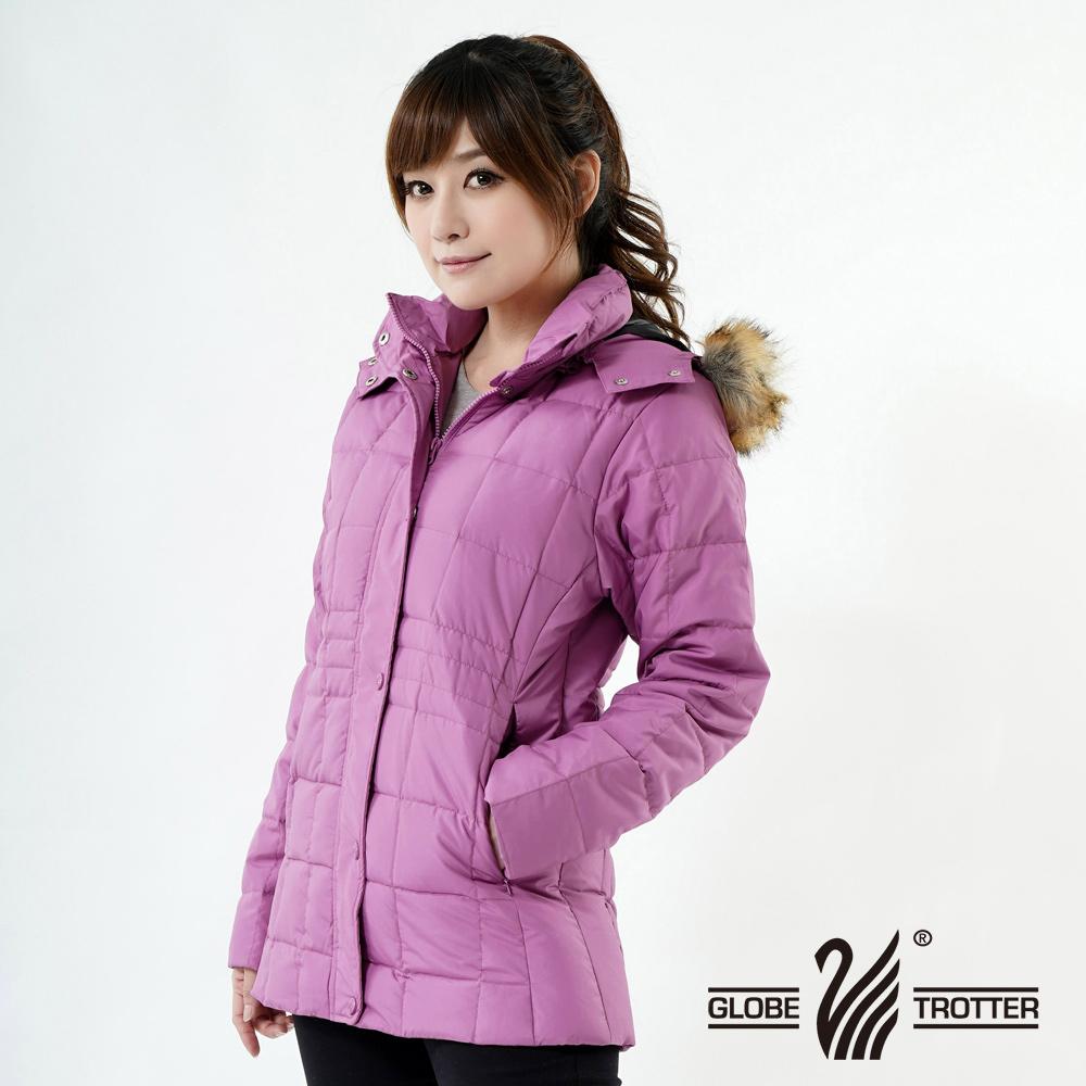 【遊遍天下】JIS90%羽絨極暖防風防潑水中長版羽絨外套A062淺紫