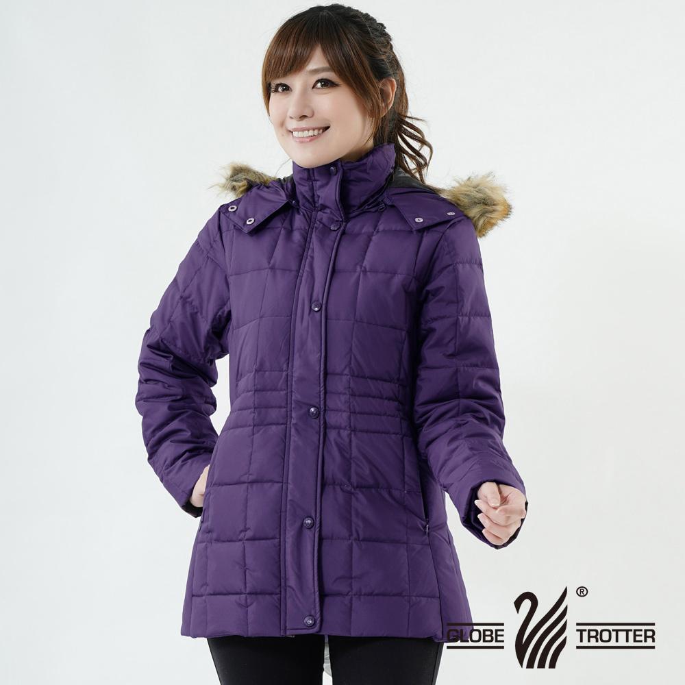 【遊遍天下】JIS90%羽絨極暖防風防潑水中長版羽絨外套A062紫色