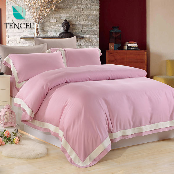 【鴻宇HongYew】天絲簡約風-珊瑚粉 珊瑚粉 雙人特大四件式薄被套床包組