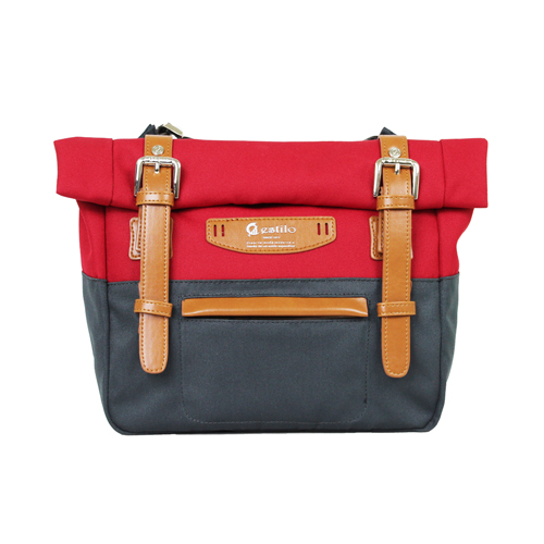 【estilo】時尚玩色系列 撞色設計 小型斜背包(紅)