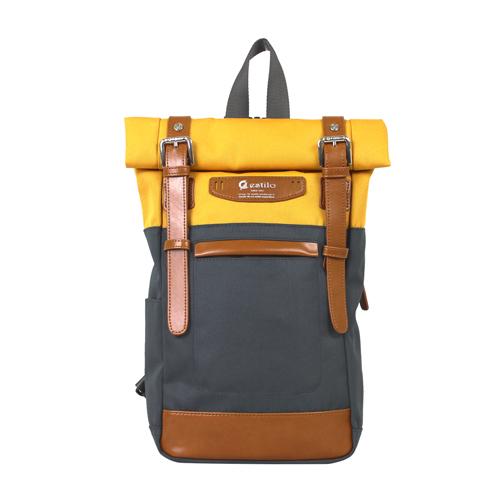 【estilo】時尚玩色系列 撞色設計 兩用單肩包/後背包(黃)