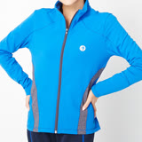 TOP GIRL 修身配色立領運動外套-藍
