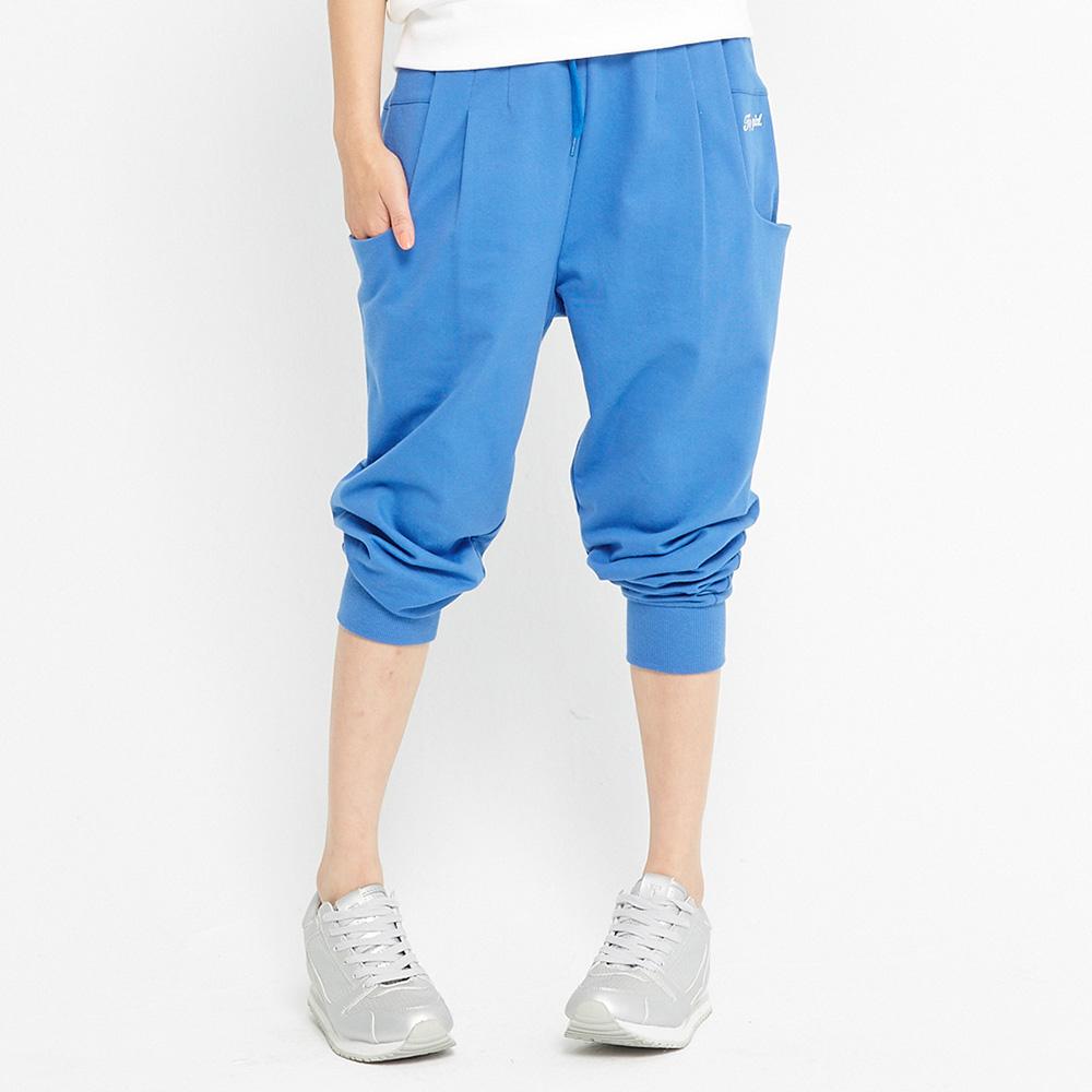 TOP GIRL 舒適縮口棉質八分老爺褲-藍