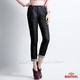 BRAPPERS 女款 BoyFirendBallon-女用燈籠3D八分吊帶反摺褲-黑