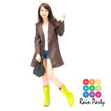 【RainParty】日本『娃娃裝』雨/風衣系列時尚點點(咖啡色)