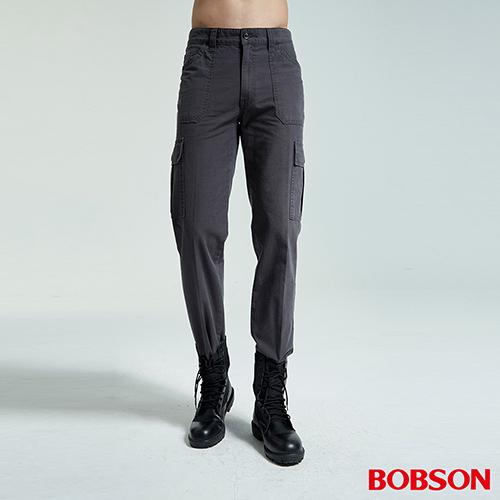 BOBSON 男款貼袋直筒褲(1767-91)