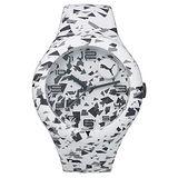 PUMA 動感延伸運動腕錶-白X黑