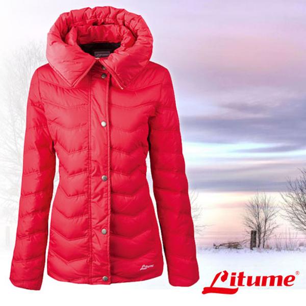 【意都美 Litume】女款 可拆式帽保暖羽絨衣/羽絨外套_  F3167 紅