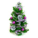 台灣製迷你1呎/1尺(30cm)裝飾聖誕樹(銀紫色系)
