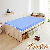 【LooCa】吸濕排汗11cm紓壓款記憶床墊-單人(藍)