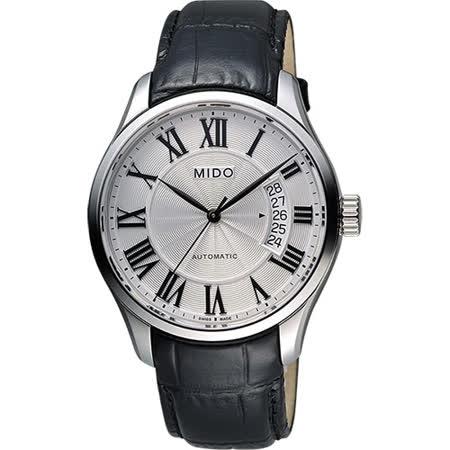MIDO Belluna II Gent 羅馬機械腕錶-銀x黑/40mm M0244071603300