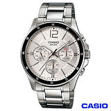 CASIO卡西歐 時尚三眼爵士石英腕錶 MTP-1374D-7A