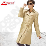 【意都美 Litume】 3 In 1 二件式100%防水透氣防風中長版羽絨外套 F3112 卡其