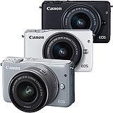 Canon EOS M10 + EF-M 15-45mm 單鏡組(公司貨)-送32G+輕便型三腳架+專用電池+相機包+保護鏡+吹球清潔組+保護貼