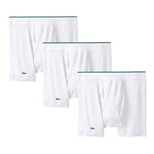 【Lacoste】2015男時尚白色修飾四角內著3件組(預購)